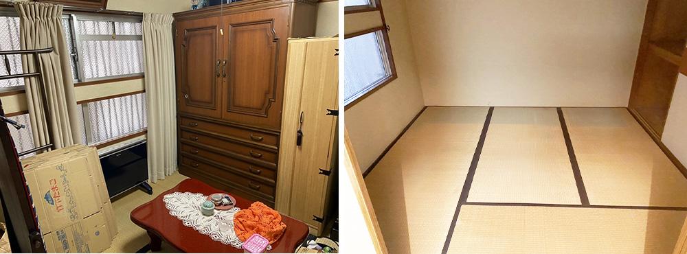 京都 遺品整理 ビフォーアフター