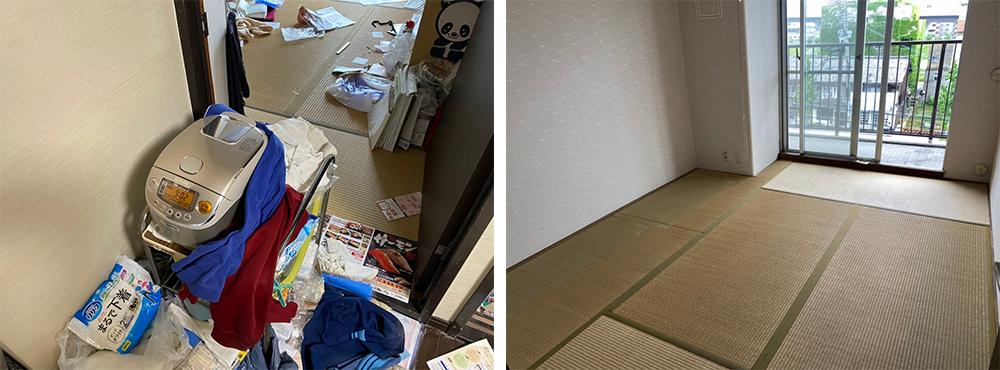 京都市 脱臭・除菌も兼ねた特殊清掃